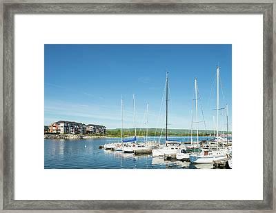 Sailboats At Harbor, Collingwood Framed Print