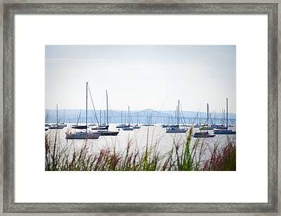 Sailboats At Rest Framed Print by Bill Cannon