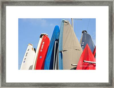 Framed Print featuring the photograph Sailboats At Rest by Vinnie Oakes