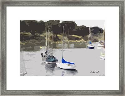 Sailboats Framed Print by Christopher Bage