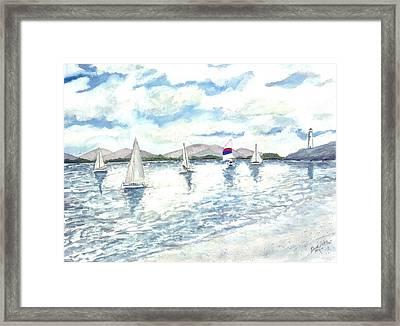 Sailboats Framed Print by Derek Mccrea