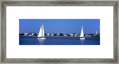 Sailboats In The Atlantic Ocean Framed Print