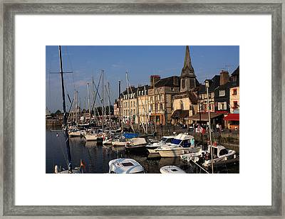 Sailboats In The Harbour Framed Print