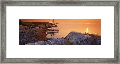 Sailboats On The Coast, Lilla Nassa Framed Print by Panoramic Images