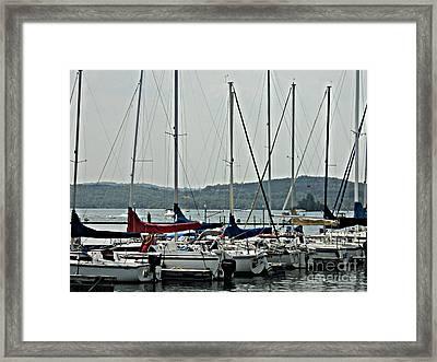 Sailboats Framed Print by Pics by Jody Adams