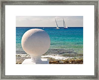 Framed Print featuring the photograph Sailboats Racing In Cozumel by Mitchell R Grosky