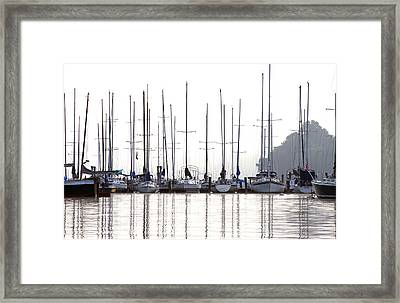 Sailboats Reflected Framed Print