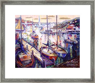 Sailboats Framed Print by Stan Esson