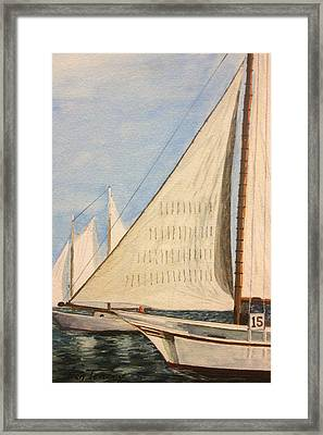 Sailboats Framed Print by Stan Tenney