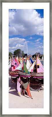 Sailboats Tuilleries Paris France Framed Print by Panoramic Images