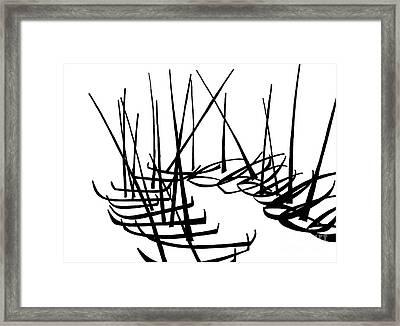 Sailboats Waiting On Shore Framed Print by Menno Bos