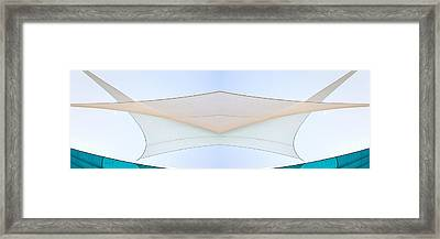 Sailcloth Abstract Times Two Framed Print by Bob Orsillo