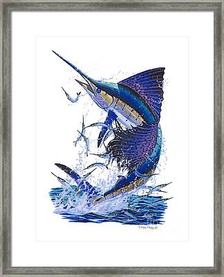 Sailfish Framed Print by Carey Chen