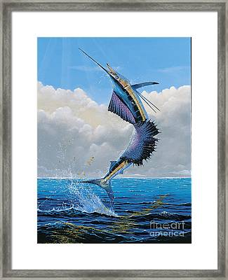 Sailfish Dance Off0054 Framed Print