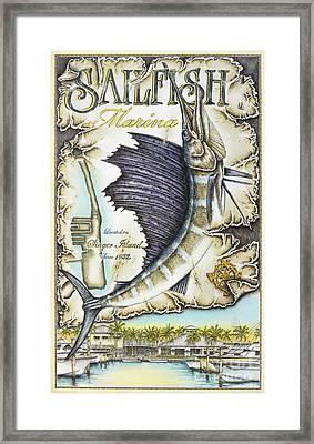 Sailfish Marina Framed Print
