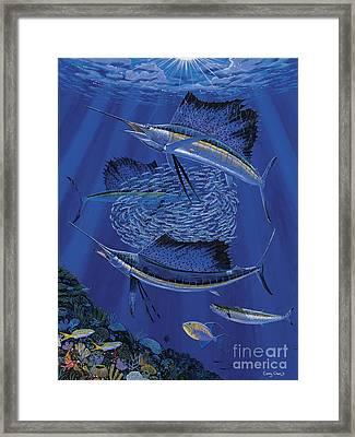 Sailfish Round Up Off0060 Framed Print