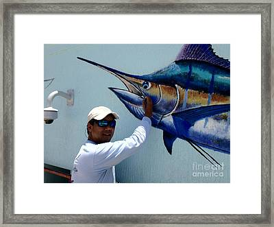 Sailfish Splash Park 3 Framed Print by Carey Chen