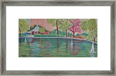 Sailin' Away In Central Park Framed Print