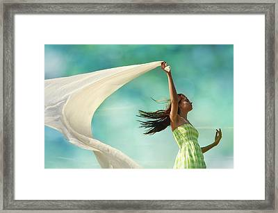 Sailing A Favorable Wind Framed Print by Laura Fasulo