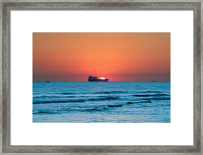 Sailing Across The Sun Framed Print