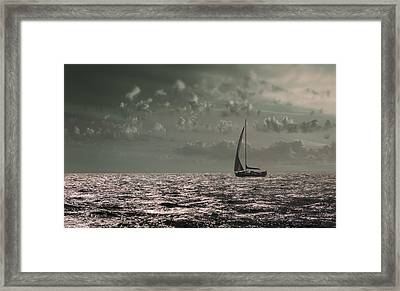 Sailing Framed Print by Akos Kozari