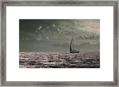 Sailing Framed Print by Akos Kozari