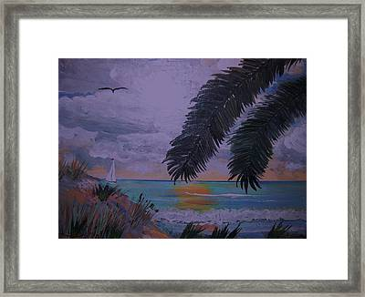 Sailing Along The Shore Framed Print by David Earl Tucker