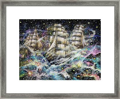 Sailing Among The Stars Framed Print