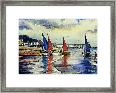 Sailing At Penarth Framed Print