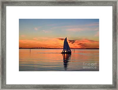 Sailing At Sunset Framed Print by Kennerth and Birgitta Kullman