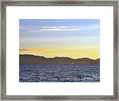 Sailing At Sunset - Lake Tahoe Framed Print