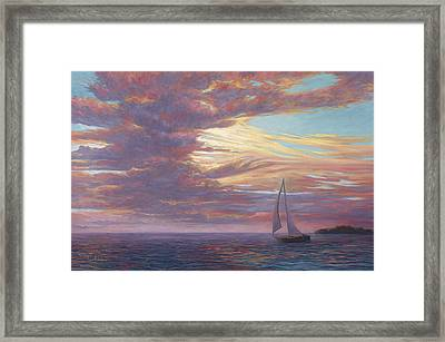 Sailing Away Framed Print by Lucie Bilodeau