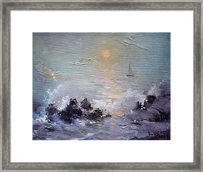 Sailing Back Home Framed Print by Ylli Haruni