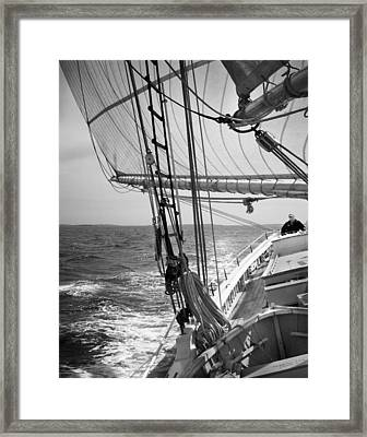 Sailing Before The Wind Framed Print