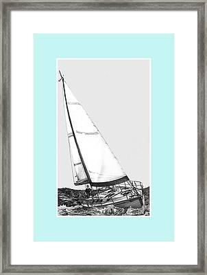 Sailing Blue Framed Print by Jack Pumphrey