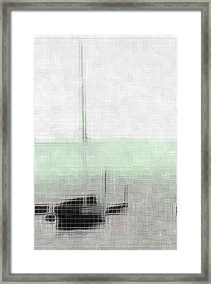 Sailing Boat At A Dock Framed Print