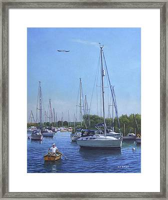 Sailing Boats At Christchurch Harbour Framed Print