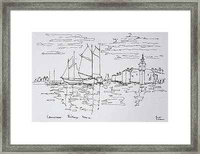 Sailing Boats In The Bay Of Concarneau Framed Print