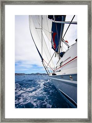 Sailing Bvi Framed Print by Adam Romanowicz