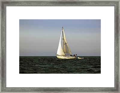 Sailing By Framed Print by Grant Glendinning