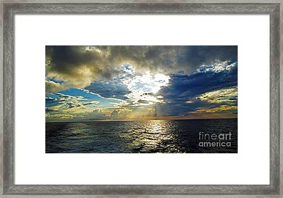Sailing By Heaven's Door Framed Print by Alison Tomich