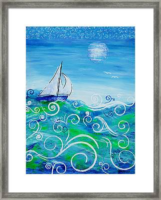 Sailing By Jan Marvin Framed Print