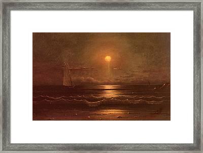 Sailing By Moonlight Framed Print