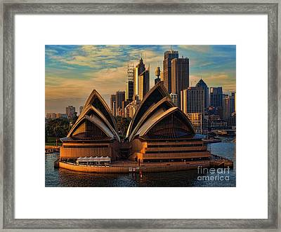 sailing by the Opera House Framed Print