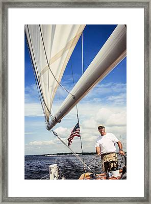 Sailing Captain Pride Framed Print
