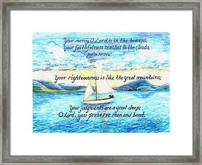 Sailing  Framed Print by Catherine Saldana