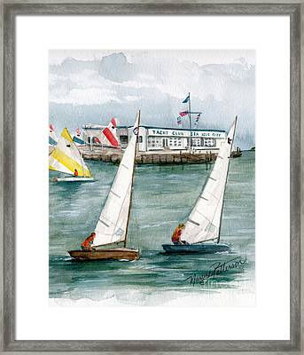 Sailing Class  Framed Print by Nancy Patterson