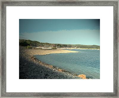 Sailing Club At Carsington Water, Pictured Here Framed Print by Litz Collection