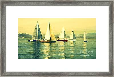 Framed Print featuring the photograph Sailing Day Regatta 2 by Julie Lueders