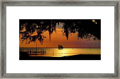 Sailing Destin Framed Print by James Granberry